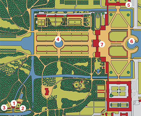 Picture: Plan of Nymphenburg Park (detail)
